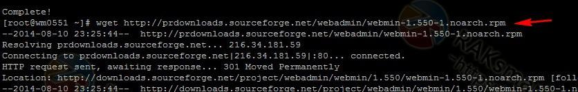 webmin安装成功