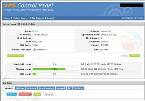 SolusVM控制面板