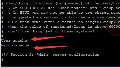 Apache默认用户组及用户名