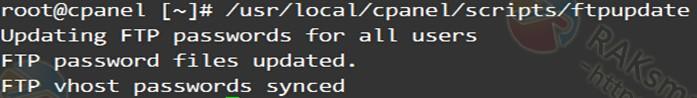 FTP密码与 cPanel 密码不一致