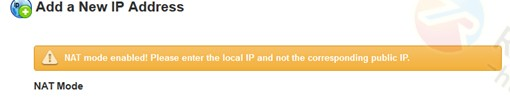 Whm中IP 管理里面