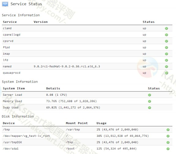 Service Status