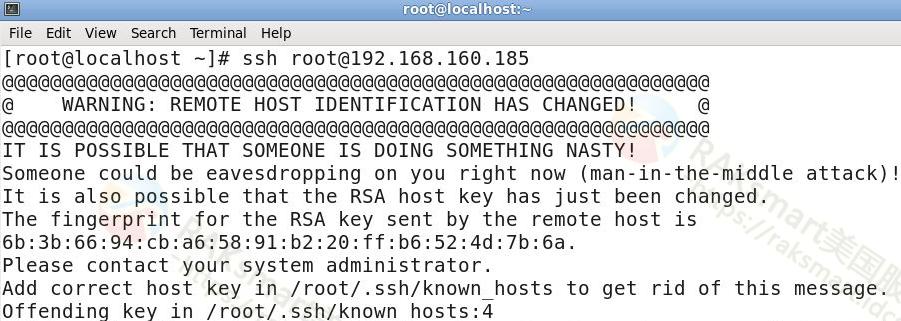 RAKsmart SSH连接常见错误及处理方法