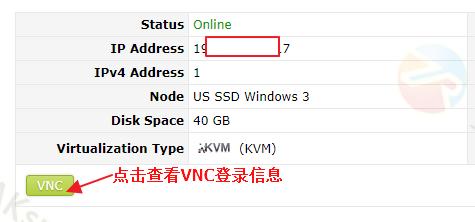 SolusVM面板查看VNC信息