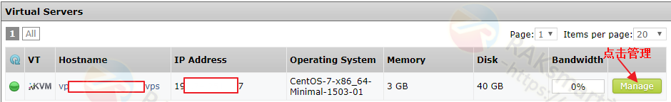 SolusVM面板用户界面
