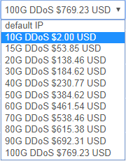 raksmart DDoS防御能力升级费用