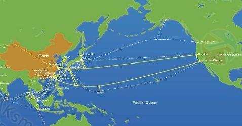 加州机房接入海底光缆