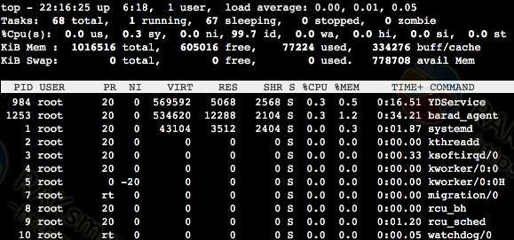 使用top命令解决CPU使用率过高的方法