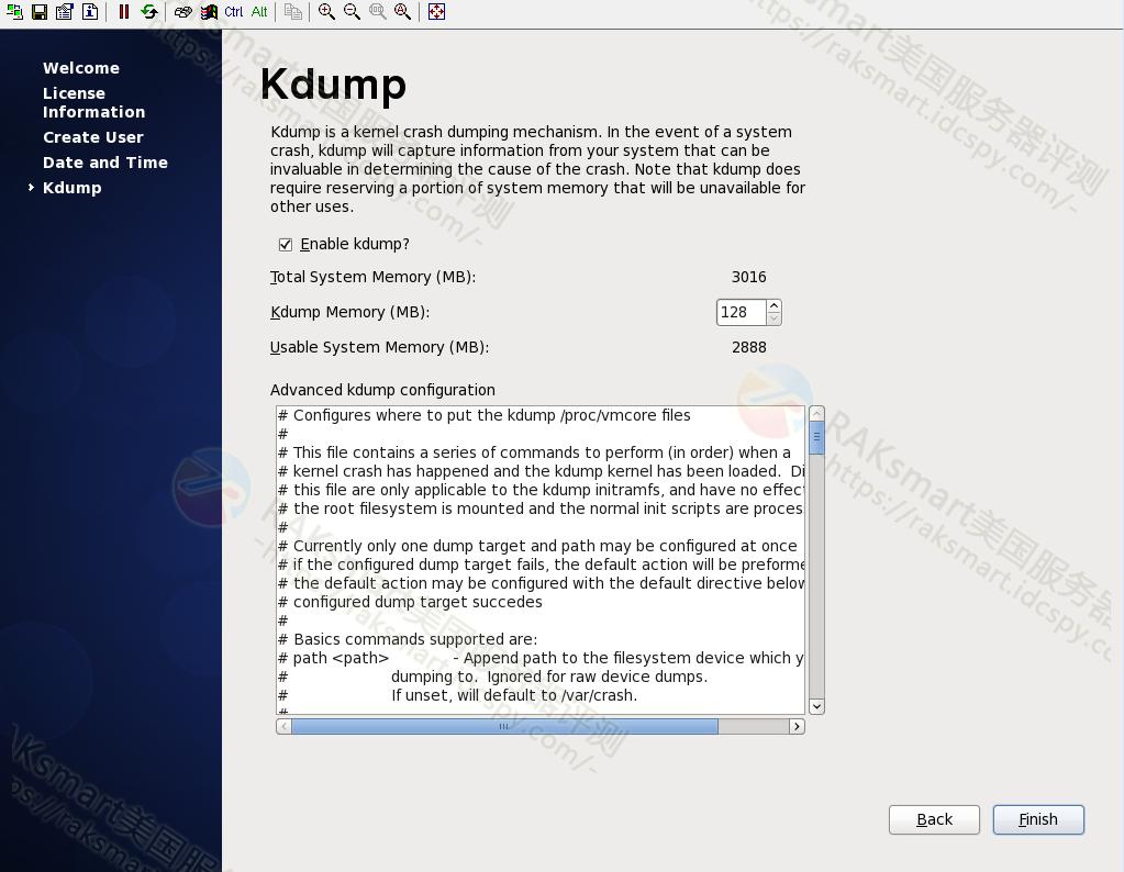 Desktop Gnome kdump设置