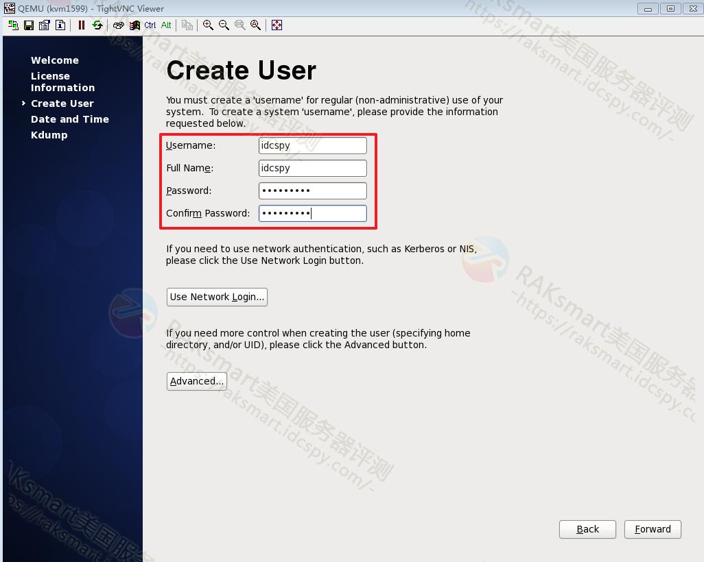 设置Desktop Gnome用户名和密码