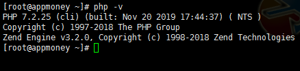 centos7系统查看PHP版本