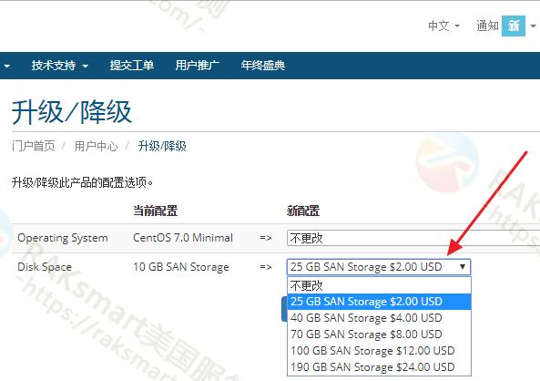 RAKsmart VPS服务器增加硬盘空间