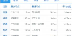 RAKsmart香港站群服务器ping值测试