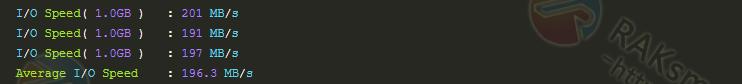 I/O硬盘读写速度结果