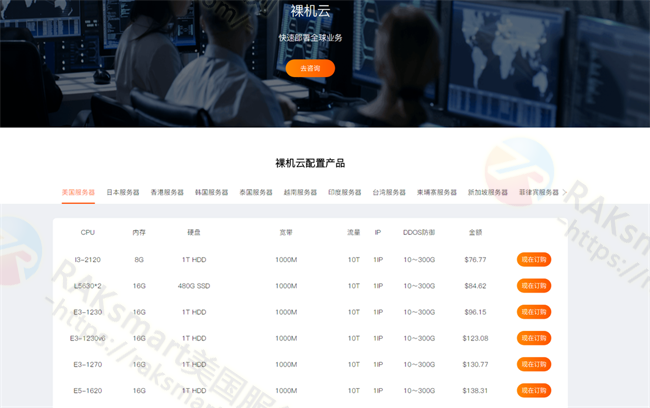 RAKsmart服务器产品