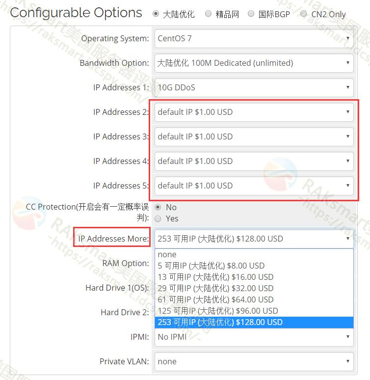 选择美国站群服务器IP数量