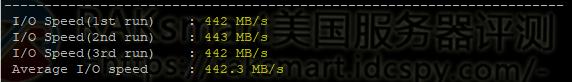 I/O硬盘读写测试结果