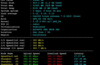 E5-2680v4服务器基本性能测试结果