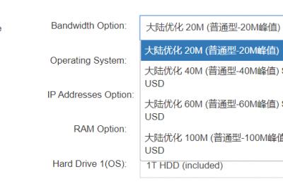 20M~100M的带宽
