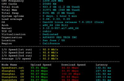 RAKsmart美国加州服务器基本性能评测